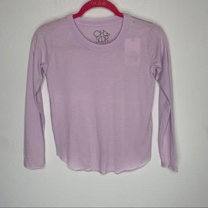 Chaser Girls  Purple Long Sleeve Top Size 8 NWT